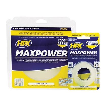 Εικόνα της HPX MAXPOWER ΤΑΙΝΙΑ ΔΙΠΛΗΣ ΟΨΗΣ ΔΙΑΦΑΝΗ 19mmx 16,5m