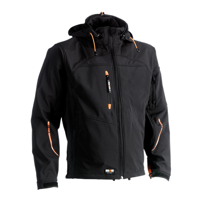 Εικόνα της Poseidon soft shell jacket BLACK