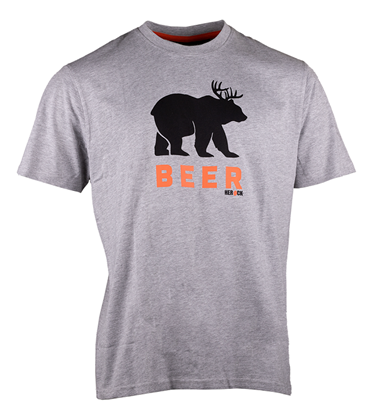 Εικόνα της Beer T-shirt short sleeves LIGHT HEATHER GREY
